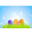 Abstract Easter background with grass and vector image
