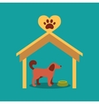 a signboard beside a doghouse vector image