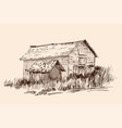 a village house vector image