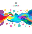 abstract colorful color splash on white vector image