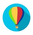 Airballoon icon in flat style isolated on white vector image