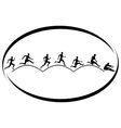 Athletics Triple jump vector image