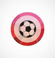 ball circle pink triangle background icon vector image vector image