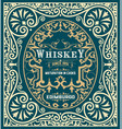 baroque whiskey label vector image vector image