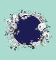 circle background with shabvintage flowers vector image vector image