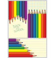 Colored crayons frames vector image
