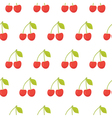 Cute seamless pattern with cherries vector image