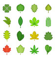 different leafs icons set cartoon style vector image vector image