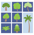 different simple tree icon flat design vector image vector image