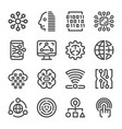 digital icon set vector image vector image