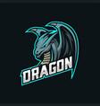 dragon mascot esport logo vector image vector image