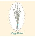 Easter card with willow bouquet vector image vector image