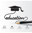Education concept infographic vector image