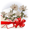 envelope with magnolias vector image