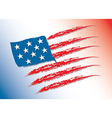 Flag of America color vector image vector image