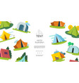 flat camping elements template vector image