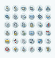 flat color thin line icons set business and vector image vector image