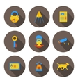 flat icons home security vector image vector image