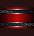 geometric design with metal grille and red frame vector image vector image