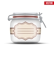 Glass Jar for canning vector image vector image