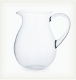 Glass jug vector image vector image