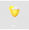 glass of cocktail on vector image vector image
