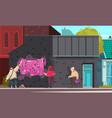 graffiti artist cartoon composition vector image