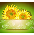 Green Sunflower Background vector image vector image