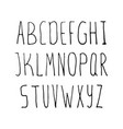 hand drawn simple alphabet vector image vector image