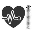heart pulse icon with men bonus vector image vector image