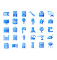 household devices and appliance solid icons vector image