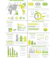 INFOGRAPHIC DEMOGRAPHICS POPULATION 3 YELLOW vector image vector image