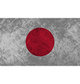 Japanese Flag Grunge vector image vector image