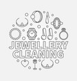 jewellery cleaning llustration made vector image vector image