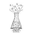 laboratory glass icon vector image