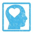 Lover Head Icon Rubber Stamp vector image