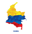 map colombia vector image vector image