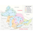 map of the great lakes basin vector image vector image