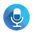 microphone long shadow icon style is a flat vector image