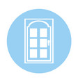 modern house door icon vector image