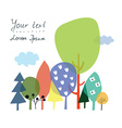 Nature and forest background for the presentation vector image vector image
