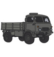 Old military lorry vector image vector image
