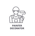 painter decorator line icon sign vector image