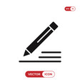 pencil icon edit sign vector image vector image