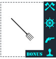pitchfork icon flat vector image vector image