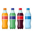 plastic beverage bottles icon set vector image