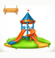 playground slide play area for children 3d icon vector image