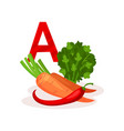 products with lots of vitamin a carrot red pepper vector image