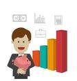 Profit graphics vector image