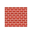 red brick wall icon vector image
